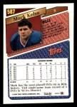1993 Topps #587  Mark Kelso  Back Thumbnail
