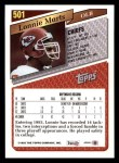 1993 Topps #501  Lonnie Marts  Back Thumbnail