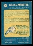 1969 O-Pee-Chee #68  Gilles Marotte  Back Thumbnail