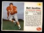 1962 Post Cereal #96  Matt Hazeltine  Front Thumbnail