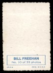 1969 Topps Deckle Edge #10  Bill Freehan    Back Thumbnail