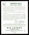 1934 Goudey Reprint #52  Herman Bell  Back Thumbnail