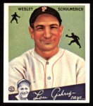 1934 Goudey Reprint #54  Wesley Schulmerich  Front Thumbnail