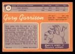 1970 Topps #23  Gary Garrison  Back Thumbnail
