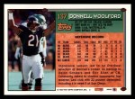 1994 Topps #137  Donnell Woolford  Back Thumbnail