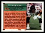 1994 Topps #166  Mike Kenn  Back Thumbnail