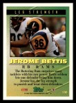 1994 Topps #199   -  Jerome Bettis Tools of the Game Back Thumbnail