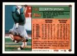 1994 Topps #186  Keith Byars  Back Thumbnail