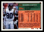 1994 Topps #252  Cris Carter  Back Thumbnail