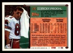 1994 Topps #170  Ricky Proehl  Back Thumbnail