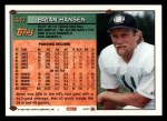 1994 Topps #447  Brian Hansen  Back Thumbnail