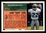 1994 Topps #359  Jon Vaughn  Back Thumbnail