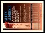1994 Topps #374  Allen Aldridge  Back Thumbnail