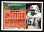1994 Topps #348  Bryan Cox  Back Thumbnail