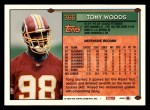 1994 Topps #366  Tony Woods  Back Thumbnail
