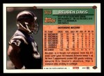 1994 Topps #363  Reuben Davis  Back Thumbnail