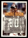 1994 Topps #612  Andre Rison  Back Thumbnail