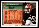 1994 Topps #655  Don Griffin  Back Thumbnail
