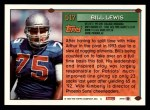 1994 Topps #517  Bill Lewis  Back Thumbnail