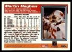 1995 Topps #105  Martin Mayhew  Back Thumbnail