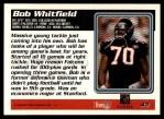 1995 Topps #43  Bob Whitfield  Back Thumbnail
