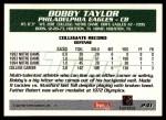 1995 Topps #241  Bobby Taylor  Back Thumbnail