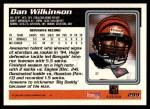 1995 Topps #299  Dan Wilkinson  Back Thumbnail