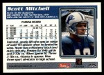 1995 Topps #275  Scott Mitchell  Back Thumbnail