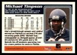 1995 Topps #337  Michael Timpson  Back Thumbnail