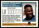 1995 Topps #466  Kelvin Pritchett  Back Thumbnail
