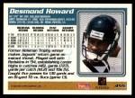 1995 Topps #455  Desmond Howard  Back Thumbnail