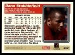1995 Topps #412  Dana Stubblefield  Back Thumbnail
