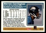 1995 Topps #464  Darren Carrington  Back Thumbnail