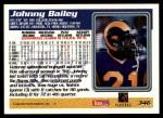 1995 Topps #346  Johnny Bailey  Back Thumbnail
