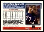 1995 Topps #410  Cornelius Bennett  Back Thumbnail