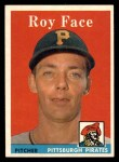 1958 Topps #74  Roy Face  Front Thumbnail