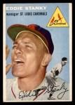 1954 Topps #38 WHT Eddie Stanky  Front Thumbnail