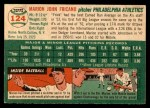 1954 Topps #124  Marion Fricano  Back Thumbnail