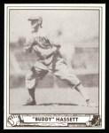 1940 Play Ball Reprint #62  Buddy Hassett  Front Thumbnail