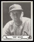 1940 Play Ball Reprint #195  Dee Miles  Front Thumbnail