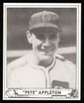 1940 Play Ball Reprint #128  Pete Appleton  Front Thumbnail
