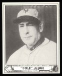 1940 Play Ball Reprint #231  Dolf Luque  Front Thumbnail