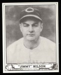 1940 Play Ball Reprint #152  Jimmy Wilson  Front Thumbnail
