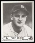 1940 Play Ball Reprint #134  Joe Cronin  Front Thumbnail