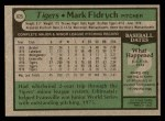 1979 Topps #625  Mark Fidrych  Back Thumbnail