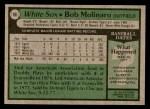 1979 Topps #88  Bob Molinaro  Back Thumbnail