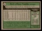 1979 Topps #674  Dave Tomlin  Back Thumbnail