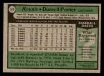 1979 Topps #571  Darrell Porter  Back Thumbnail