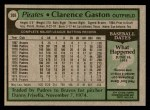1979 Topps #208  Cito Gaston  Back Thumbnail