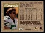 1996 Topps #63  Bill Romanowski  Back Thumbnail
